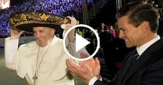 Recibimiento al Papa Francisco en México