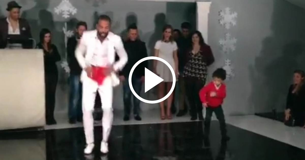 ¡No te pierdas esto! Padre e hijo bailando Rumba Cubana