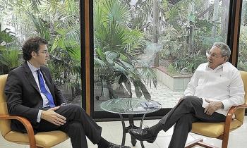 Presidentes de Cuba, Raúl Castro, y de Galicia, Alberto Núñez Feijóo
